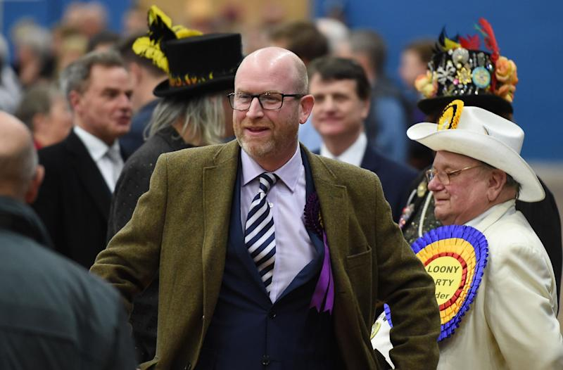 UKIP leader Paul Nuttall at the Stoke by-election