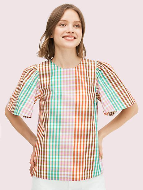 Rainbow Plaid Top. Image via Kate Spade.