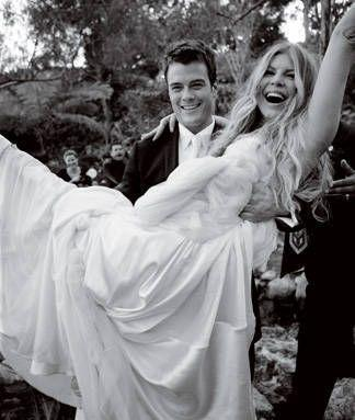 """<p>Fergie and Josh Duhamel <a href=""""https://www.popsugar.com/celebrity/Fergie-Josh-Duhamel-Wedding-Details-44074995"""" rel=""""nofollow noopener"""" target=""""_blank"""" data-ylk=""""slk:married"""" class=""""link rapid-noclick-resp"""">married</a> in the Church Estate Vineyards in Malibu, CA, on January 10, 2009. They had custom wedding bands, and guests included Mario Lopez and Kate Hudson. The couple announced their split in September 2017. </p>"""