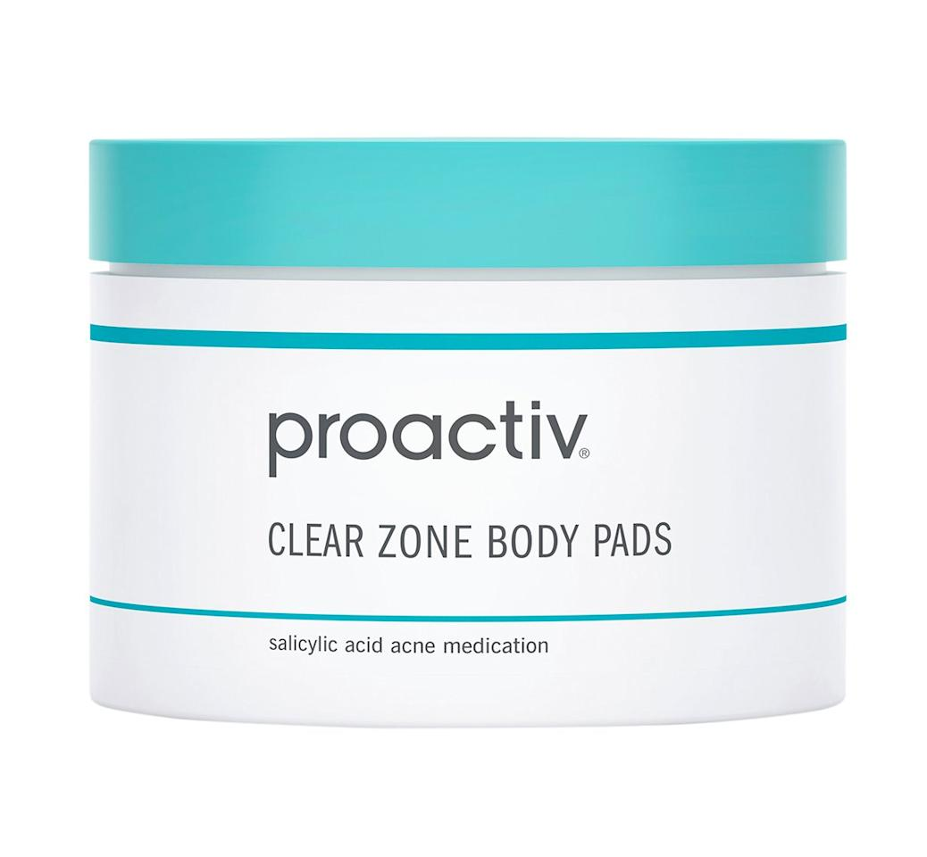 """The textured pads help uproot dead cells and dirt from the thickest skin.  <b>Buy It!</b>Proactiv Clear Zone Body Pads, $35; <a href=""""https://www.amazon.com/Proactiv-Clear-Zone-Body-Count/dp/B00TY418J0?ie=UTF8&camp=1789&creative=9325&linkCode=as2&creativeASIN=B00TY418J0&tag=people0d0-20&ascsubtag=fd100cc3fbfdf909a1b6884d3ec9b231"""" target=""""_blank"""" rel=""""nofollow"""">amazon.com</a>"""