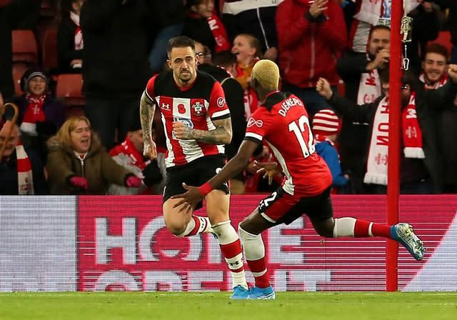 Danny Ings celebrates scoring for Southampton (Mark Kerton/PA)
