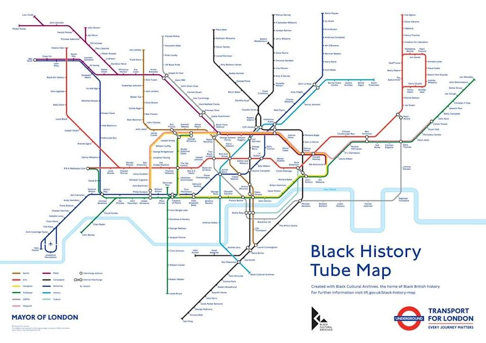 The Tube lines have also been renamed with specific themes, for example the Victoria line is 'Literary'  (PA)