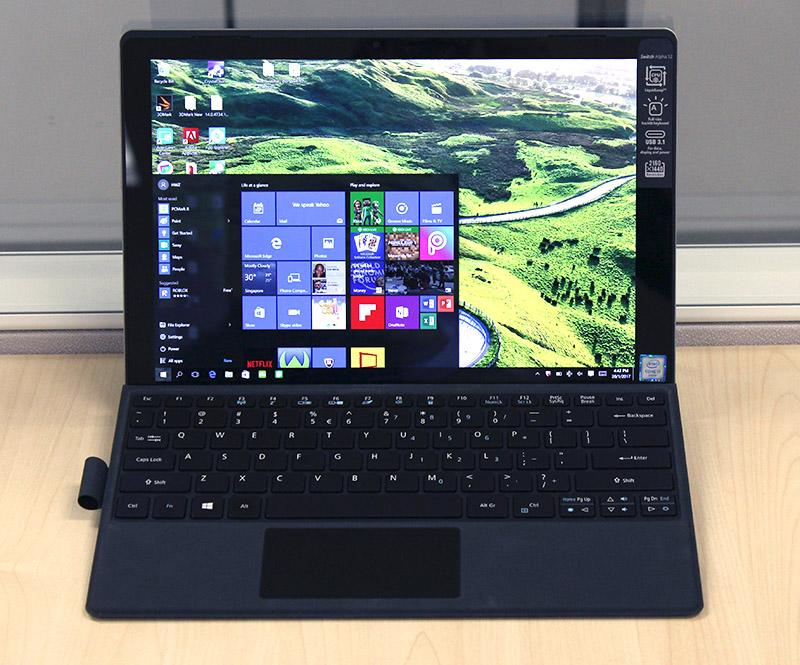 The Acer Switch Alpha 12 is one of the few notebooks in the world to feature liquid-cooling.
