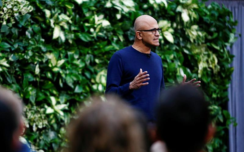 Microsoft, led by chief executive Satya Nadella, said it had been carbon neutral since 2012 but that this was not enough - REUTERS