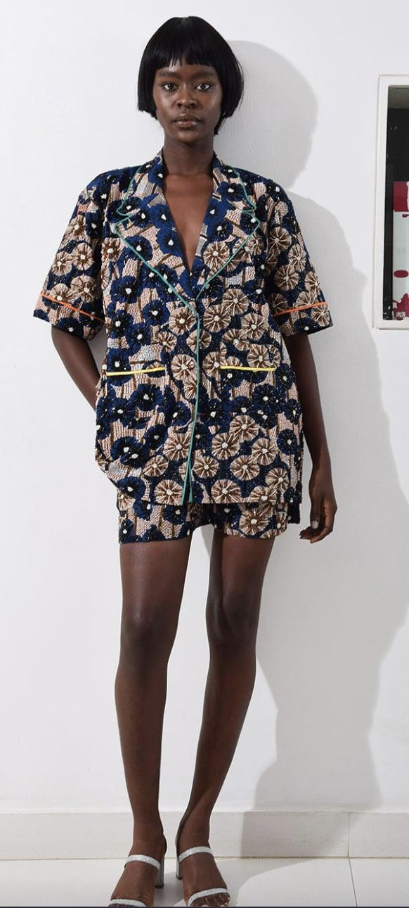 <p>This <span>Lisa Folawiyo Jumeaux Pyjama Short Set</span> ($550) is so elegant and eye-catching, you'll wear it for more than bed.</p>
