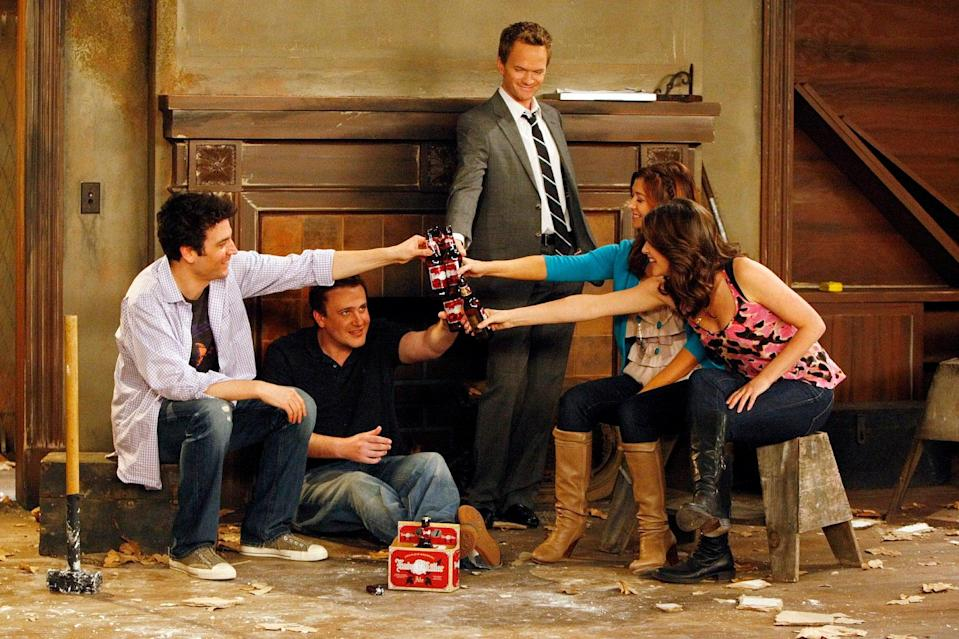 The cast of How I Met Your Mother, which ran for 208 episodes (CBS via Getty Images)