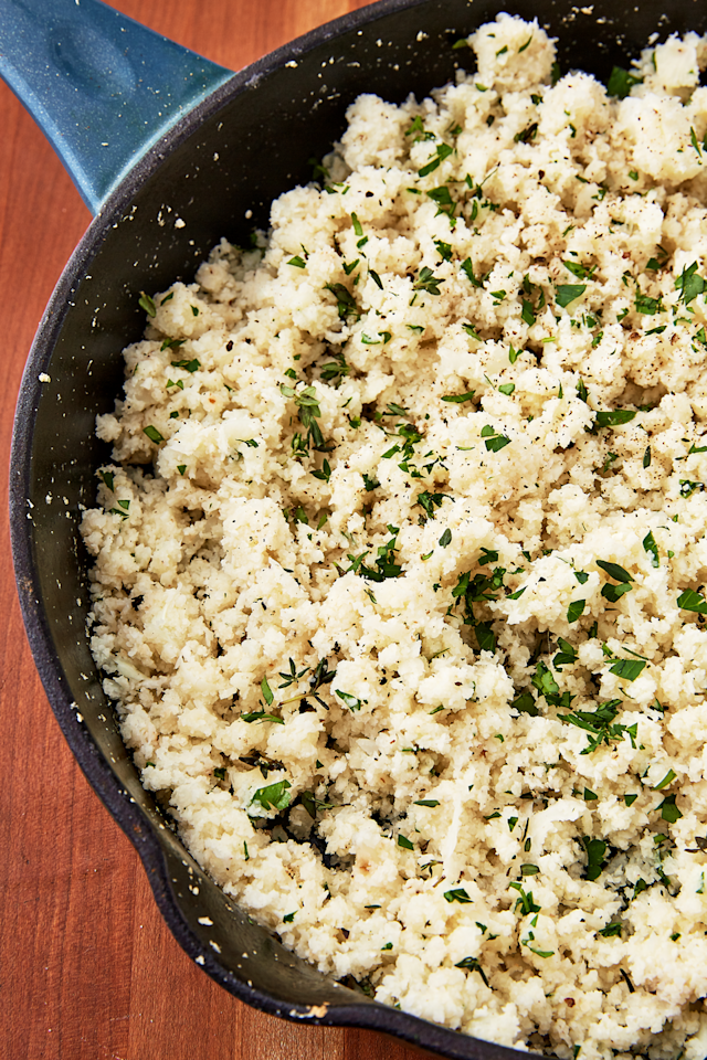 "<p>Use this healthier alternative anywhere you'd normally have rice!</p><p>Get the recipe from <a rel=""nofollow"" href=""https://www.delish.com/cooking/recipe-ideas/a25564976/how-to-make-cauliflower-rice/"">Delish</a>. </p>"