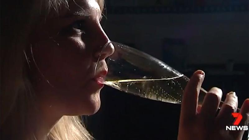 Frances' results waivered considerably after drinking. Source: 7 News