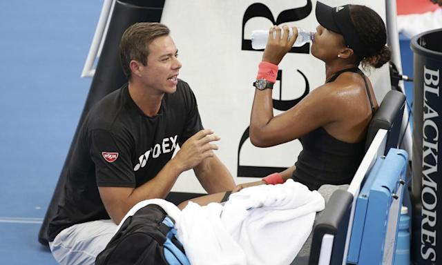 "<span class=""element-image__caption"">Naomi Osaka with Sascha Bajin at the Brisbane International tournament. The world No 1 announced her split with the coach in a blunt, matter-of-fact fashion.</span> <span class=""element-image__credit"">Photograph: Tertius Pickard/AP</span>"