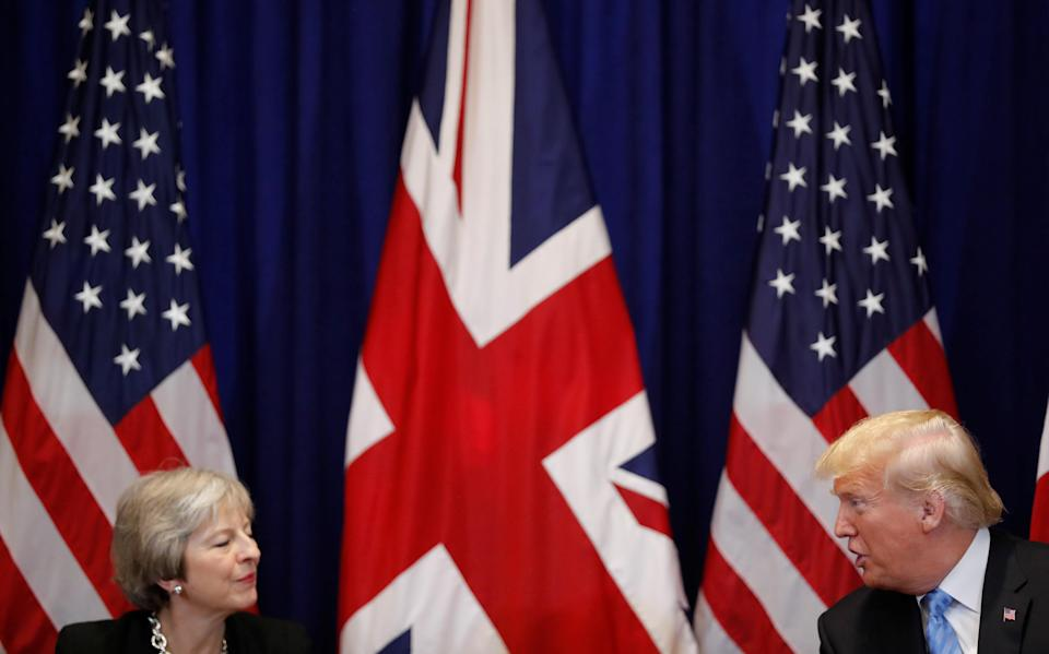 UK prime minister Theresa May and US president Donald Trump. Photo: Reuters