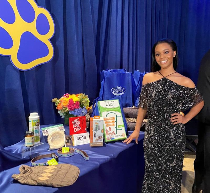 Gabby Douglas at american dog rescue