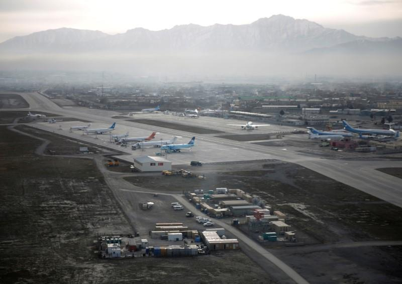 FILE PHOTO: An aerial view of the Hamid Karzai International Airport in Kabul