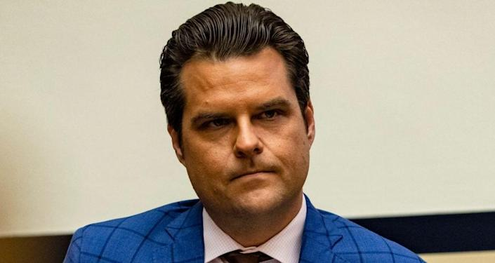 Feds are probing whether a trip Florida Rep. Matt Gaetz took to the Bahamas with a marijuana entrepreneur, who reportedly paid for their travel and escorts, violated sex trafficking laws. (Photo by Samuel Corum/Getty Images)