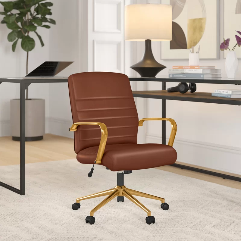 """<h2>Foundstone Katrina Task Chair</h2><br><strong>Best For: Stylish Support</strong><br>This chair is both stylish and ergonomic. It offers solid lumbar support, back-angle adjustment, center-tilt capabilities, and foam-filled leather cushions of added comfort.<br><br><strong>The Hype: </strong>4.4 out of 5 stars and 1192 reviews on <a href=""""https://www.wayfair.com/furniture/pdp/foundstone-katrina-task-chair-w001473431.html"""" rel=""""nofollow noopener"""" target=""""_blank"""" data-ylk=""""slk:Wayfair"""" class=""""link rapid-noclick-resp"""">Wayfair</a><br><br><strong>Comfy Butts Say: </strong>""""Gorgeous and stylish chair. Has alleviated back pain after long days of sitting.""""<br><br><strong>Foundstone</strong> Katrina Task Chair, $, available at <a href=""""https://go.skimresources.com/?id=30283X879131&url=https%3A%2F%2Fwww.wayfair.com%2Ffurniture%2Fpdp%2Ffoundstone-katrina-task-chair-w001473431.html"""" rel=""""nofollow noopener"""" target=""""_blank"""" data-ylk=""""slk:Wayfair"""" class=""""link rapid-noclick-resp"""">Wayfair</a>"""