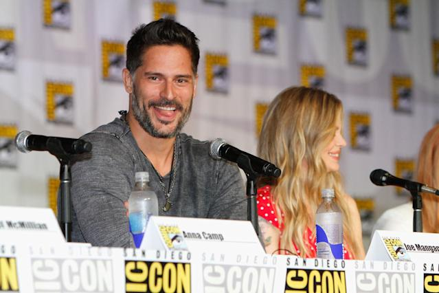 "Joe Manganiello speaks at HBO's ""True Blood"" Panel at San Diego Convention Center on July 20, 2013 in San Diego, California."