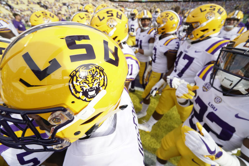 The ongoing conflict of academics and athletics at U.S. universities has taken center stage at LSU. (Getty)