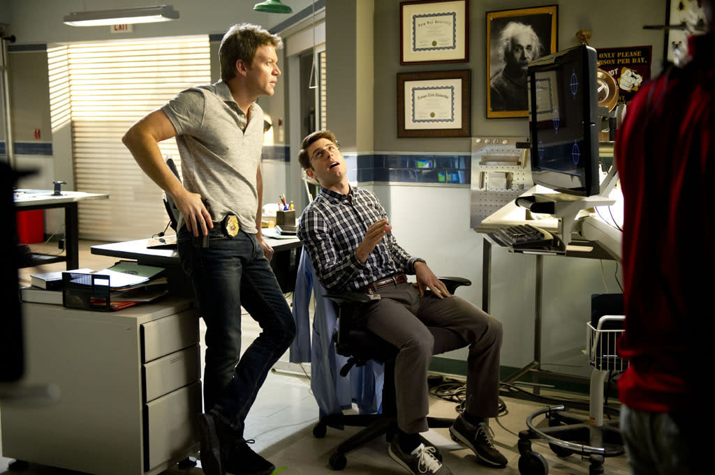 "Matt Passmore and Jordan Wall in ""The Glades"" Season 4 premiere, ""Yankee Dan."""