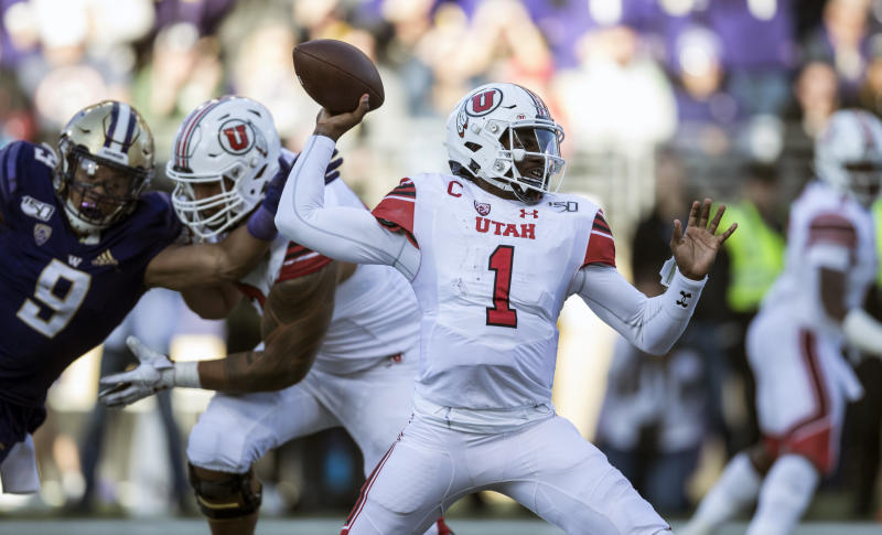 Utah has control of the Pac-12 South thanks to USC's loss to Oregon. (AP Photo/Stephen Brashear)