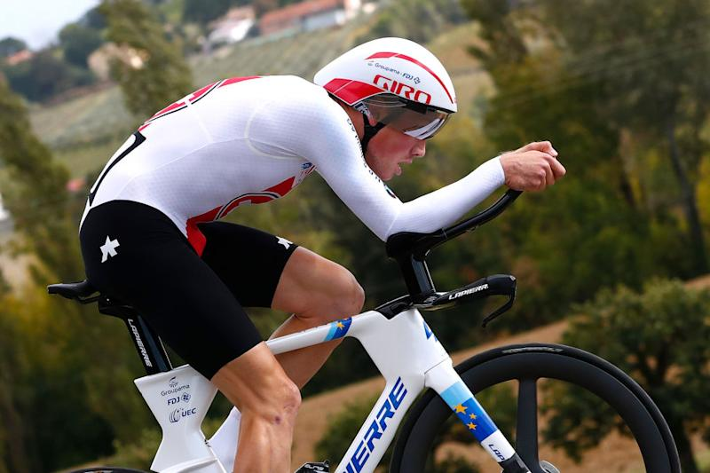 IMOLA ITALY SEPTEMBER 25 Stefan Kung of Switzerland during the 93rd UCI Road World Championships 2020 Men Elite Individual Time Trial a 317km race from Imola to Imola Autodromo Enzo e Dino Ferrari ITT ImolaEr2020 Imola2020 on September 25 2020 in Imola Italy Photo by Bas CzerwinskiGetty Images