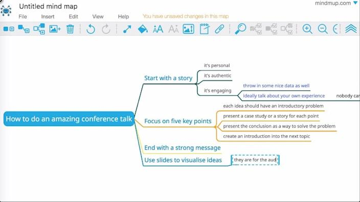 Create mind maps within your documents with MindMup2.