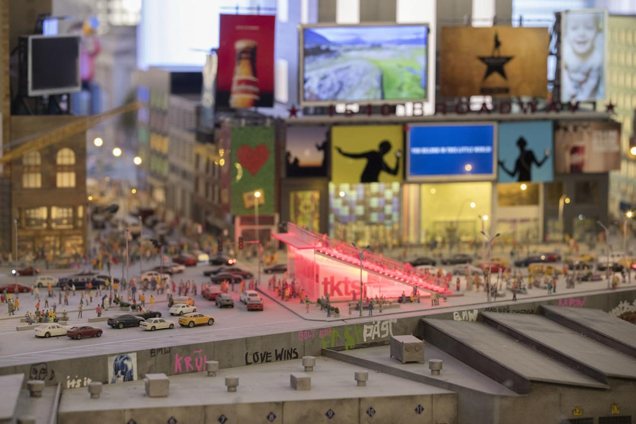 <p>Times Square is depicted in the New York City section of the Gulliver's Gate exhibit, Wednesday, April 5, 2017, in New York. (AP Photo/Mary Altaffer) </p>
