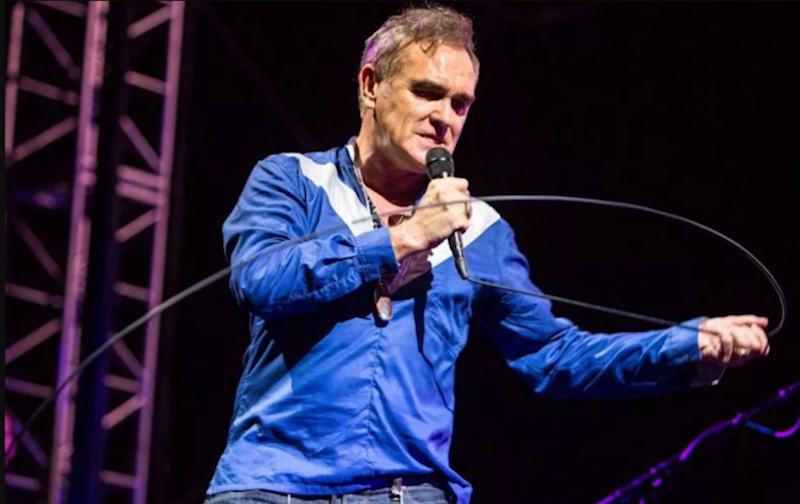 "Morrissey thinks his Portland concert protesters were ""paid for and planted"" by British press"