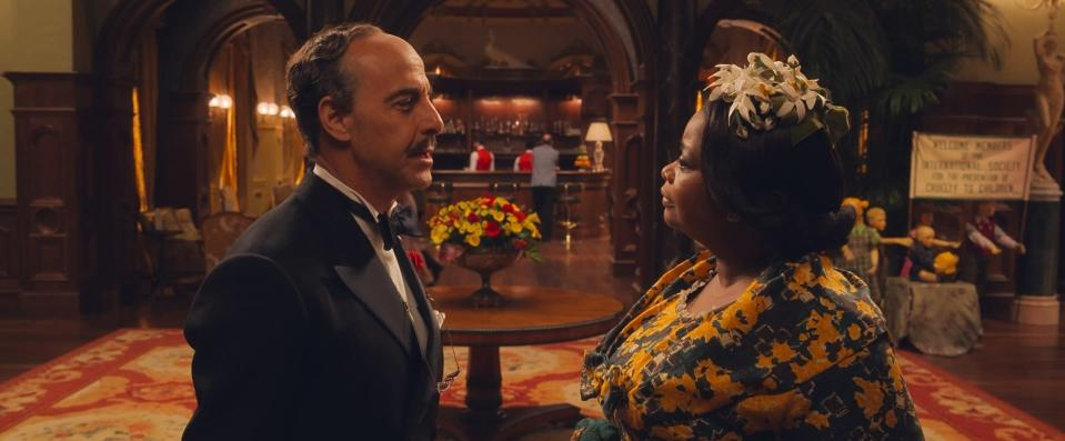 "This image released by Warner Bros. Entertainment shows Stanley Tucci, left, and Octavia Spencer in a scene from ""The Witches."" (Warner Bros. Entertainment via AP)"