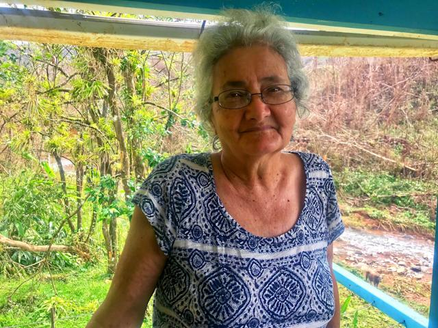 Carmen Martinez fears that her house, in a remote part of the mountains near Ciales, could be in the direct line of a potential mudslide. (Photo: Caitlin Dickson/Yahoo News)