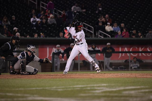 Two scouts believe Vladimir Guerrero Jr. is going to be the best prospect in baseball by the end of 2017. (Tyler Marcotte/Lansing Lugnuts)