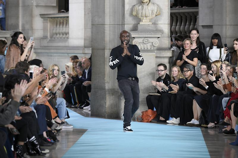 Designer Virgil Abloh at the Off-White show during Paris Fashion Week earlier this year. (Photo: Getty Images)
