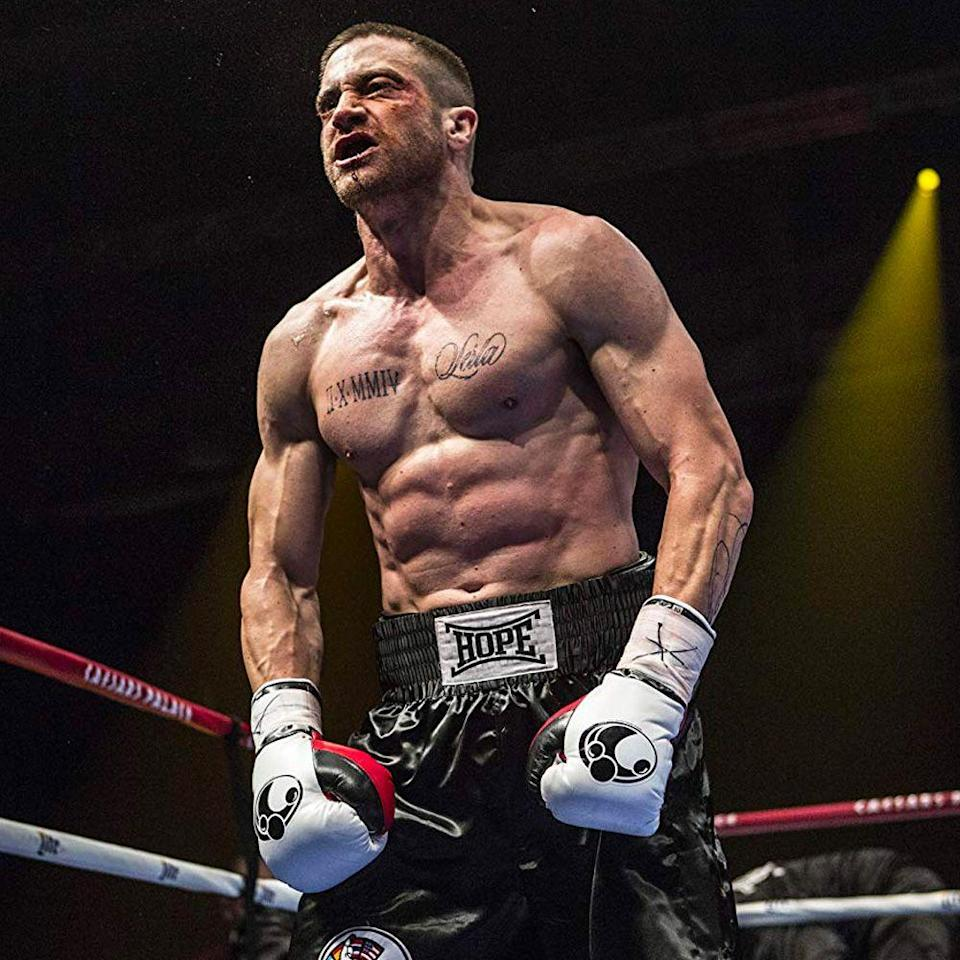"<p>Director Antoine Fuqua told <a href=""https://deadline.com/2014/11/jake-gyllenhaal-southpaw-photo-nightcrawler-1201300519/"" rel=""nofollow noopener"" target=""_blank"" data-ylk=""slk:Deadline"" class=""link rapid-noclick-resp"">Deadline</a>, ""We literally turned him into a beast. Jake, my god, he's a very electric, powerful fighter in this movie. He's so committed and gives his heart. The word is sacrifice.""</p>"