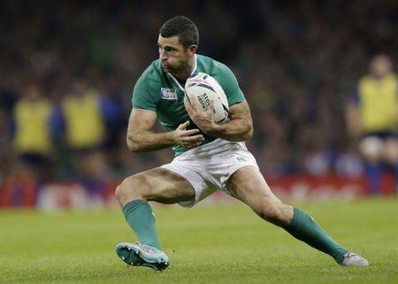 FILE PHOTO - Rugby Union - France v Ireland - IRB Rugby World Cup 2015 Pool D - Millennium Stadium, Cardiff, Wales - 11/10/15  Ireland's Rob Kearney in action  Action Images via Reuters / Henry Browne