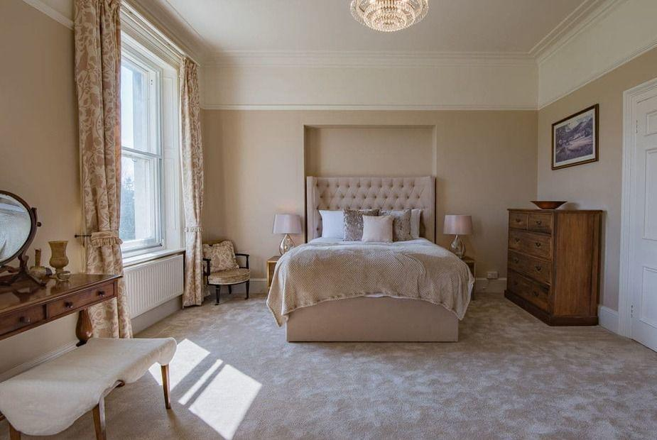 """<p>How inviting does this bedroom look? We couldn't think of anything better than an overnight stay here. </p><p><strong>READ MORE</strong>: <a href=""""https://www.countryliving.com/uk/travel-ideas/staycation-uk/a34890619/cottage-trends/"""" rel=""""nofollow noopener"""" target=""""_blank"""" data-ylk=""""slk:6 holiday cottage trends to know for 2021"""" class=""""link rapid-noclick-resp"""">6 holiday cottage trends to know for 2021</a></p>"""