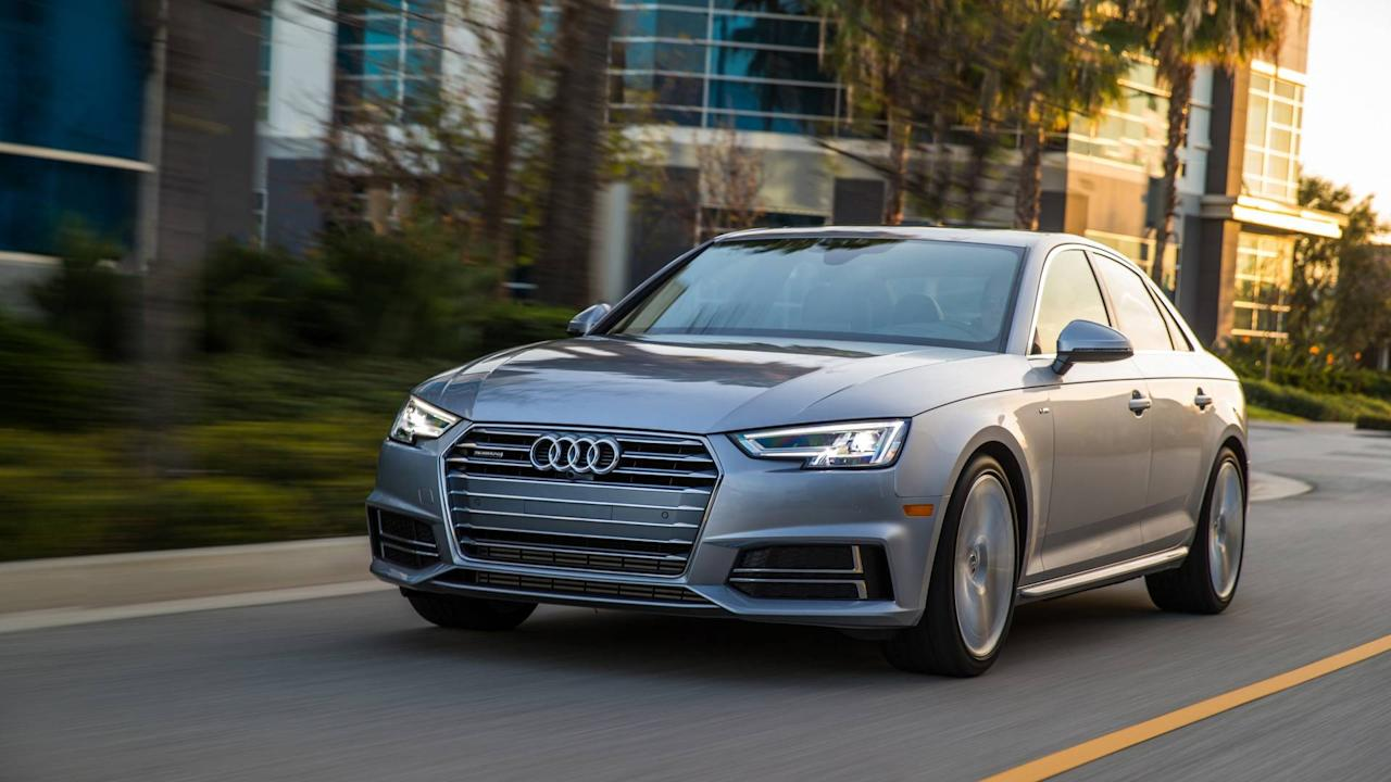 "<p>The popular compact <a rel=""nofollow"" href=""https://www.motor1.com/audi/a4/"">Audi A4</a> sedan deftly balances ample elements of comfort and sportiness. It's top rated for reliability by <em>Consumer Reports</em>, and is ranked above average in this regard by JD Power. Base MSRP: $36,975.</p>"