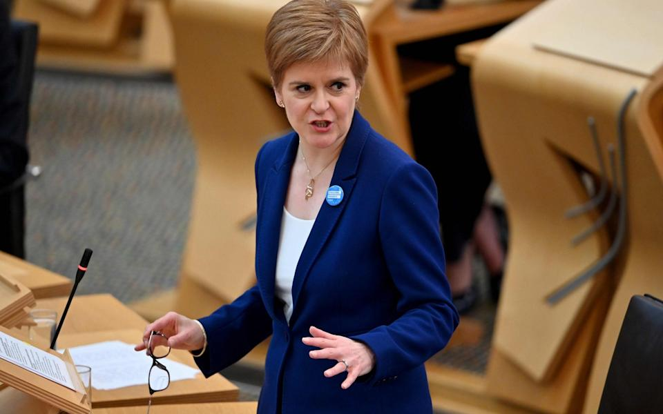 Nicola Sturgeon is set to follow the lead of her counterpart in Cardiff - JEFF J MITCHELL/AFP