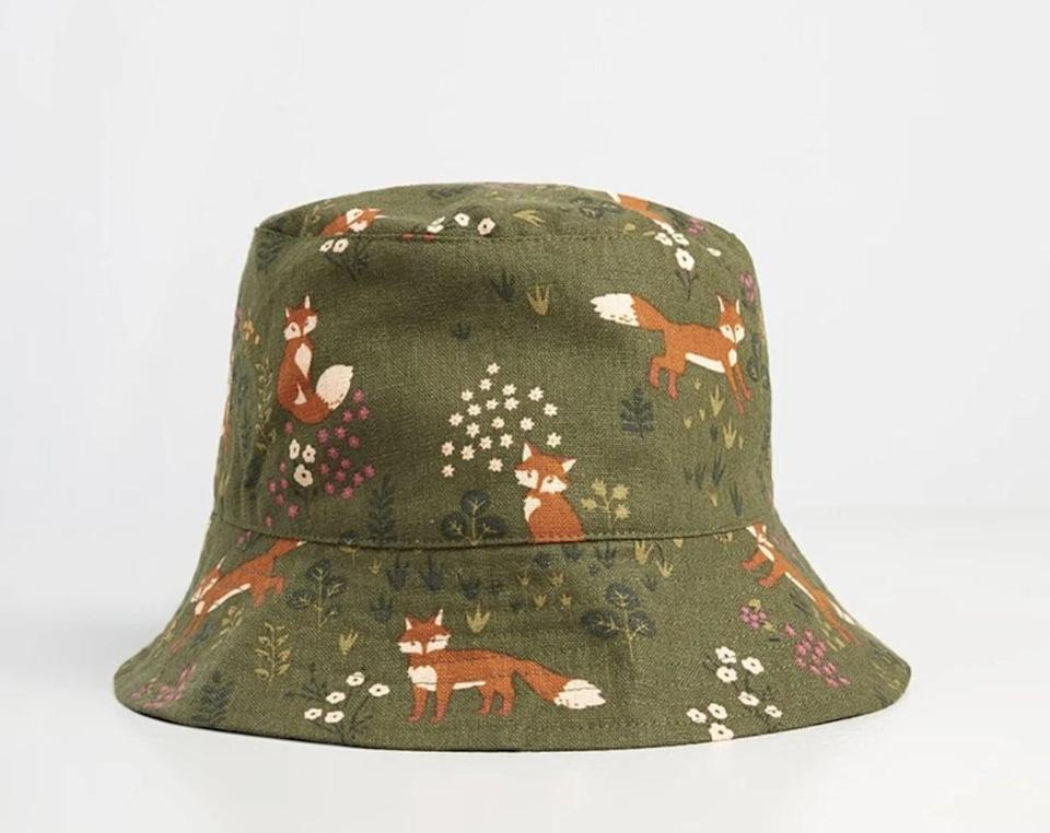 <p>What's cuter than a bucket hat? A bucket hat with orange-hued foxes and flowers on it, as proven by this <span>ModCloth x Princess Highway Bucket Hat</span> ($35).</p>