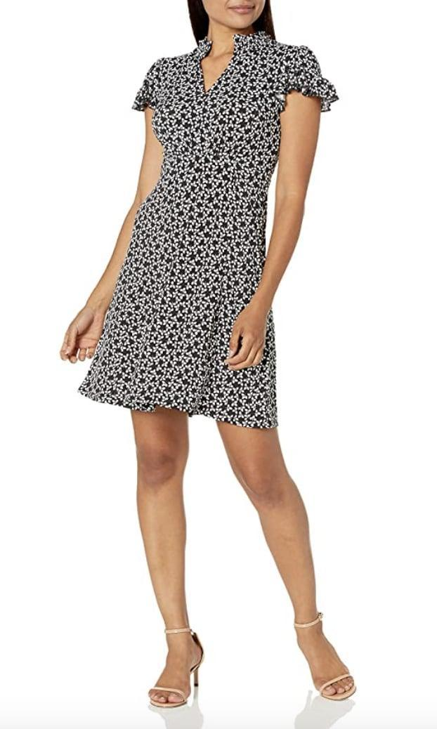 <p>This <span>Lark &amp; Ro Ruffle Fit and Flare Dress</span> ($11 - $31) comes in a few other fun, spring-inspired patterns.</p>