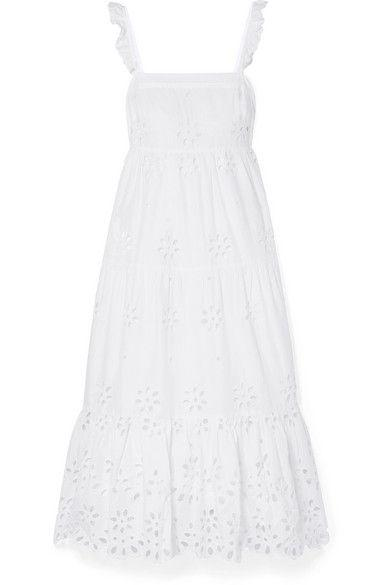445a620d24 Hatch The Alice Pleated Shirred Cotton-Voile Midi Dress ($260). View photos