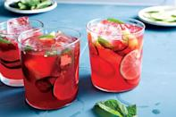 """We love the sour and tangy flavor of hibiscus, not to mention its amazing color. <a href=""""https://www.epicurious.com/recipes/food/views/pineapple-hibiscus-tequila-cocktail?mbid=synd_yahoo_rss"""" rel=""""nofollow noopener"""" target=""""_blank"""" data-ylk=""""slk:See recipe."""" class=""""link rapid-noclick-resp"""">See recipe.</a>"""