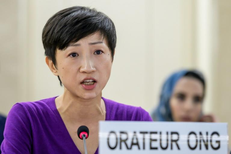Hong Kong lawmaker and founder of the pro-democracy Civic Party Tanya Chan told the UN the semi-autonomous territory was on the 'verge of a humanitarian crisis' (AFP Photo/FABRICE COFFRINI)