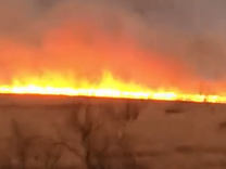 "<p>Firefighters battled several fierce wildfires in Amarillo, Hartley County and Potter County on Sunday, March 18.</p><p>This video was captured by eyewitness Cliff Daniel. It shows a huge fire burning in the distance from South Soncy Road, Amarillo.</p><p>Fire reached the parking lots of Texas Oncology, Northwest Texas Healthcare System and the Texas Tech University Health Science Center, <a href=""http://www.newschannel10.com/story/37752386/evacuations-underway-in-potter-county-hartley-county"" target=""_blank"">according to local news reports</a>, but staff and patients had not yet been asked to evacuate. Credit: Cliff Daniel via Storyful</p>"