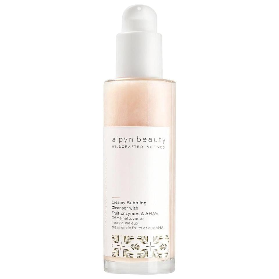<p>If you have oily skin, you'll love the <span>alpyn beauty PlantGenius Creamy Bubbling Cleanser</span> ($36). It exfoliates and brightens while preventing blackheads. </p>