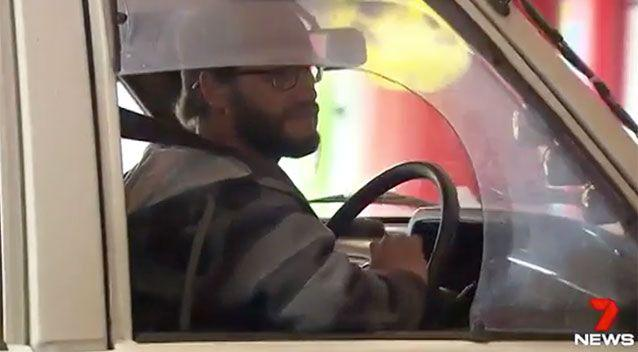Police said the man (pictured) was brave for stepping in and stopping a carjacking. Source: 7 News