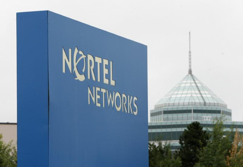 A sign is pictured outside Nortel's Carling Campus in Ottawa