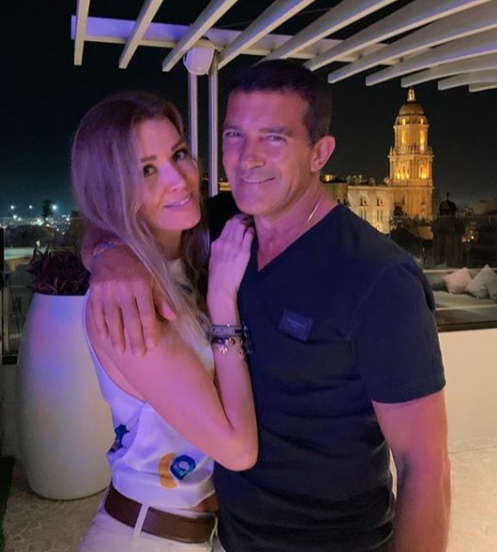 Antonio Banderas in Malaga Spain during coronavirus