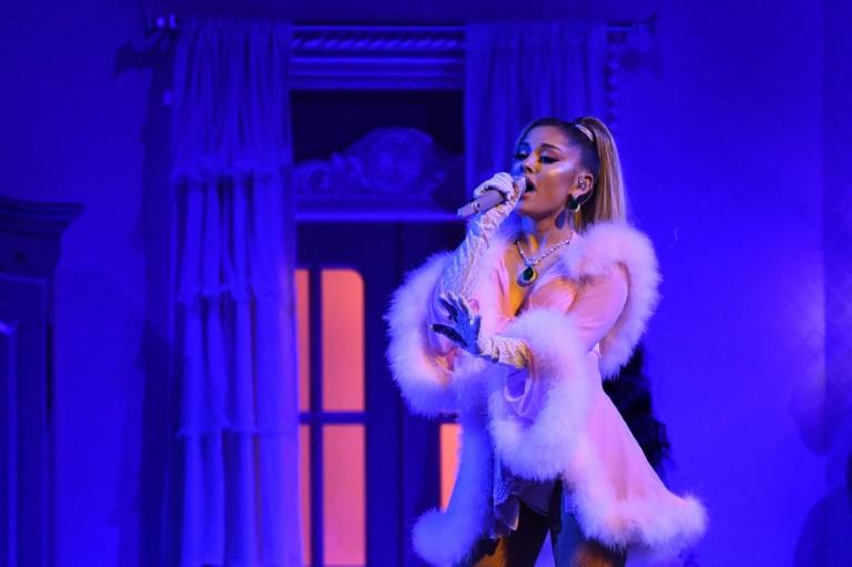 Ariana Grande gave a sultry performance at the Grammys but went home empty-handed despite five nominations (AFP Photo/Robyn Beck)