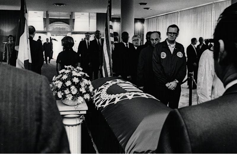 Quietly they came to say goodbye to their friend Walter Reuther on May 14, 1970.