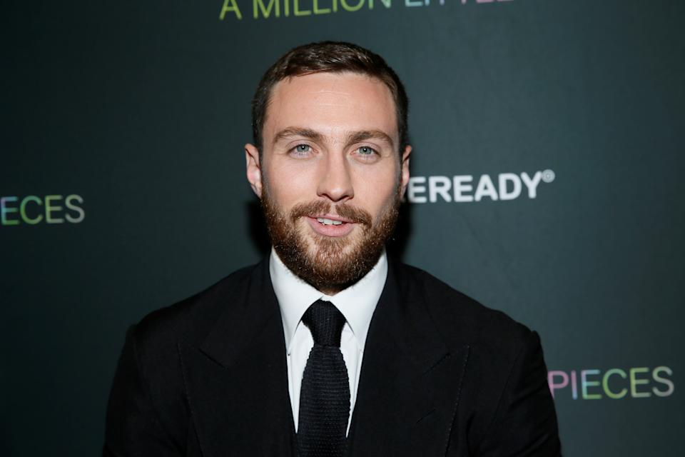 """Writer, producer and cast member Aaron Taylor-Johnson poses at the LA Special Screening of the film """"A Million Little Pieces,"""" in West Hollywood, California, U.S., December 4, 2019. REUTERS/Danny Moloshok"""