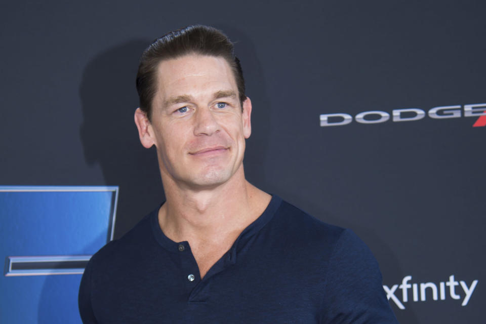 """FILE - In this Jan. 31, 2020, file photo, actor John Cena attends the Road to """"Fast & Furious 9"""" Concert at Maurice A. Ferre Park in Miami Beach, Fla. Cena apologized Tuesday, May 25, 2021 to fans in China after he called Taiwan a country in a promotional interview for his upcoming film and became the latest celebrity to face the fury of Chinese nationalists. (Photo by Scott Roth/Invision/AP, File)"""