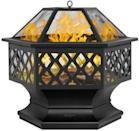 "<p>Elevate your backyard with this sleek and stylish <span>Bonnlo 24"" Hex Shaped Metal Wood Burning Bonfire Pit</span> ($83).</p>"